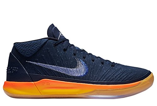 Nike Mens Kobe Annuncio Basket Scarpa Ossidiana / Bianco - Mega Blu