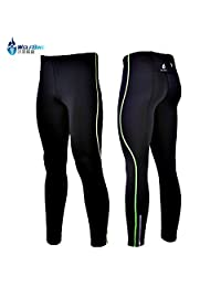 WOLFBIKE Mens Cycling Compression Tights Base Layer Skins Running Run Fitness Excercise Cyclewear Pants