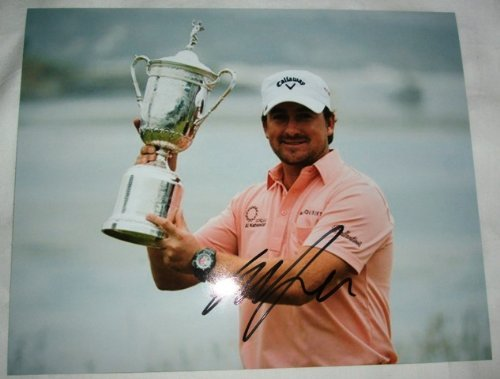 Graeme McDowell Autographed PGA 8x10 W/PROOF, Picture of Graeme Signing For Us, Masters Champion, PGA Championship, US Open, The Open Championship, PGA Tour, US Open ()