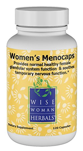Wise Woman Herbals – Women's Menocaps – 120 caps - All-Natural Menopause and Puberty Supplement - for Hot Flashes, Mood Swings and Night Sweats During Menopause, Promotes Emotional Balance (Herbal Caps 100 Singles)