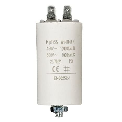 Condensador de Arranque para Motor electrico 1.0 uF 450 Vac Cablepelado