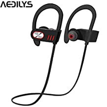 Bluetooth Headphones, AEDILYS Wireless In Ear Earbuds V4.1 Sports Sweatproof Earphones , Premium Sound with Bass Noise Reducing, Secure Fit Bluetooth Headset for Running, Workout and Gym