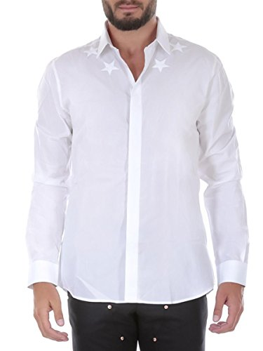 Givenchy Men's Cotton Shirt - White, 41 (cm - 16 inches - - White Givenchy
