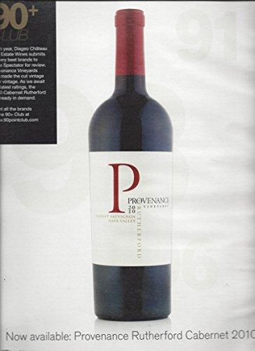 MAGAZINE AD For 2010 Provenance Vineyard Cabernet Wine 90+ Club Rating Scene