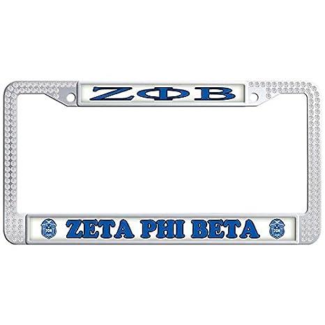 Amazon.com: Dasokao ZETA PHI BETA Customizable Auto License Plate ...