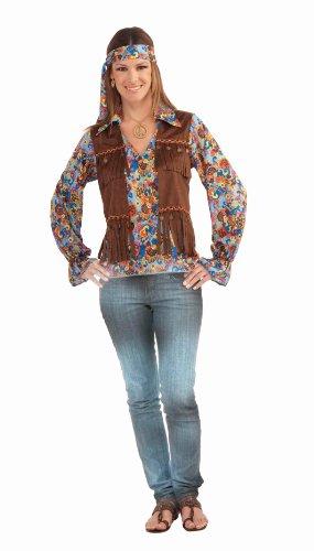 Forum Novelties Women's Generation Hippie Groovy Costume Set, Multi, One Size