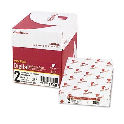 Nekoosa 17390 Digital Carbonless Paper, Straight, 8-1/2 X 11, 2-Pt, White/Canary, 2500/Ct by Nekoosa