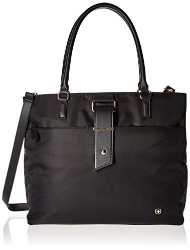 "SwissGear Luggage Ana 16"" Women's Laptop Tote Bag, Black, On"