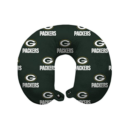 Green Bay Packers Nfl Bedding - Pegasus Sports NFL Green Bay Packers Green Bay Packers U-Neck Polyester Travel Pillow, Dark Green