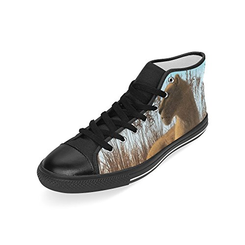 High Sneaker Grass Story Laying Brown Mens Shoes Top Lioness Fashion In Custom D Classic Canvas dz6Cqaqw