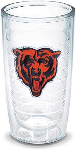 (Tervis 1023289 NFL Chicago Bears Bear Emblem Individual Tumbler, 16 oz, Clear)
