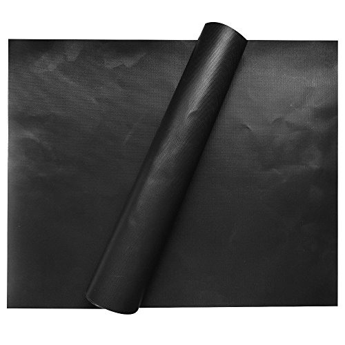 FARSIC 2 Piece of (15.75x 13) BBQ Grill Mat-Nonstick, Reusable and Dishwasher Safe