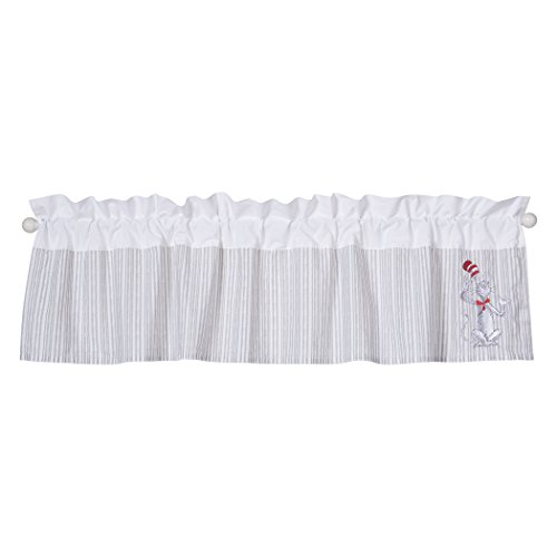 Trend Lab Dr. Seuss The Cat in The Hat Comes Back Window Valance, Gray/Red/White by Trend Lab