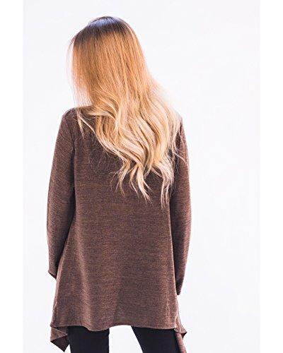 CY - Camiseta de manga larga - para mujer marrón