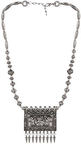 Efulgenz Vintage Oxidized Statement Necklace product image