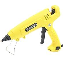 AI 300 Watt Hot Melt Glue Gun High Output Professional Adjustable Switch High Temperature Industrial Adhesive Glue Gun 60 Seconds Heating;yellow