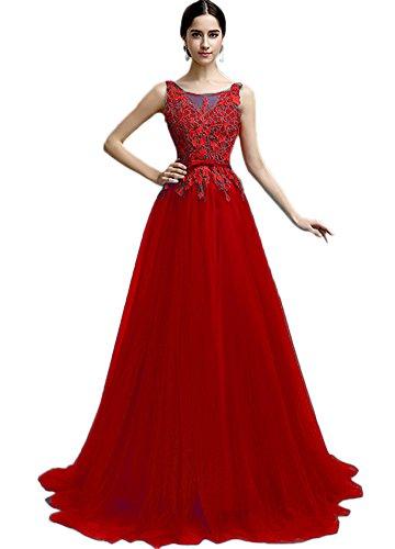 Vimans -  Vestito  - linea ad a - Donna rosso 40