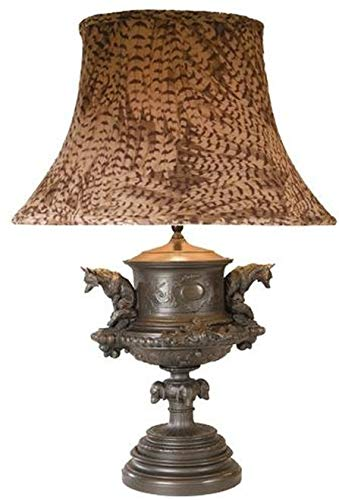 EuroLuxHome Sculpture Table Lamp Equestrian Traditional Antique Pheasant Feather Pond
