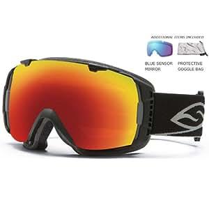 Smith Optics I/O Goggle (Black Frame, Red Sol X Mirror Lens)