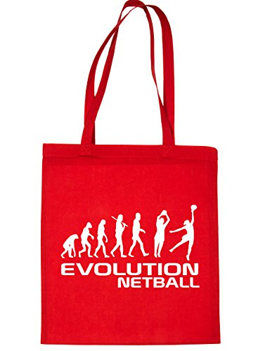 Print4u Shopping Tote Bag For Life Evolution Of Netball Red