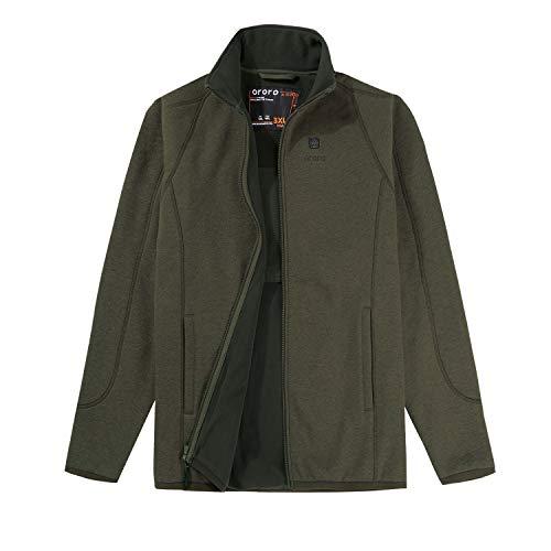 ORORO 2021 Men's Heated Fleece Jacket Full Zip with Battery Pack
