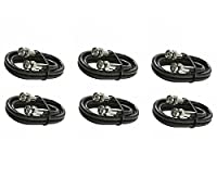 C&E CNE21044 6 BNC-BNC RG6 Patch Cable UL, Black, 6-Pack