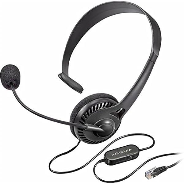 Amazon Com Insignia Landline Phone Hands Free Headset Black Ns Mchmrj9p Electronics