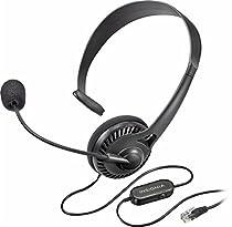 Insignia - Landline Phone Hands-Free Headset Black NS-MCHMRJ9P