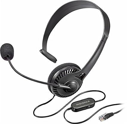 43c8d7af2f1 Amazon.com: Insignia - Landline Phone Hands-Free Headset Black NS ...