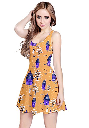 CowCow - Vestido - para mujer Orange Snowman