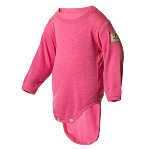 Janus 100% Merino Wool Baby Bodysuit Long Sleeve Machine Washable Made in Norway