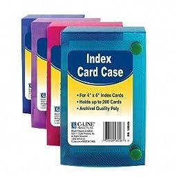 C Line 4X6 Index Card Case -- Case of 16