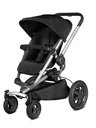 Quinny Buzz Xtra Kombi-Kinderwagen und Sportbuggy, ab der Geburt nutzbar mit Maxi-Cosi Babyschale, automatische sekundenschnelle Aufklappfunktion und robuste Reifen für jedes Gelände, rocking black