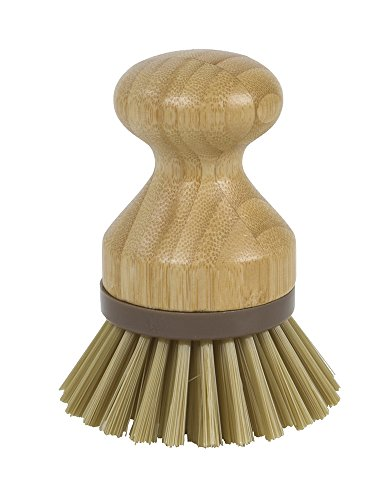 - Evriholder Bamboo Naturals Mini Scrub Brush Dish Scrubber Made of Sustainable Bamboo and Recycled Plastic