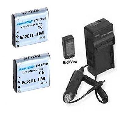2つ2 NP - 40電池+充電器for DXG dxg-125 dxg-517 dxg-533 dxg-535 dxg-566   B01E53X4OQ