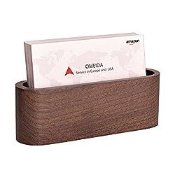 Maxgear Wood Business Card Holder For Desk Wooden Business Card Case For Office Business Card Stand, Business Name Card Holder Display,name Card Organizer Walnut