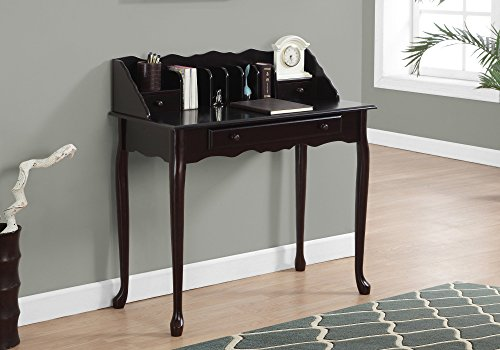 Monarch specialties I 3100, Traditional Desk, Solid Wood, Dark Cherry, 36