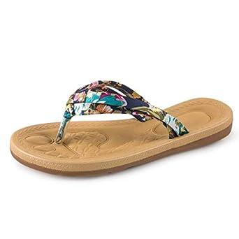 Chanclas para Mujer, ❤ Absolute Sandalias Chanclas Planas de Verano para Mujer Sandalias Mocasines Zapatos de Bohemia Vestido de Playa Sandalias y ...