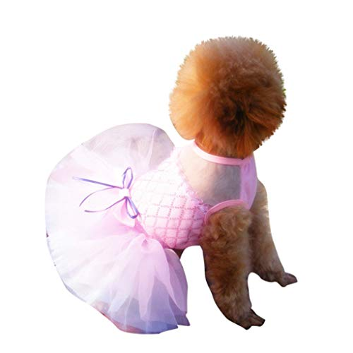 Gogoodgo Dog Shirts,Dog T-Shirt,Pet Shirts Puppy Dog Vest T-Shirt Pet Clothing Apparel Female Male Small Dog -