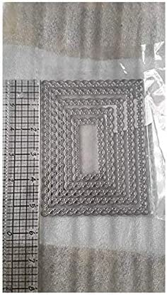 1pc Nested Stitched Scallop Rectangle Metal Dies DIY Etched Paper Card Making sh