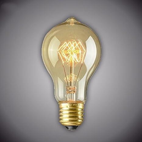 TIANLIANG04 bombillas LED Bombilla A19 Retro Vintage Edison Lámpara E27 Bombilla Incandescente 220V Luz Iluminacion Exterior Lampadina Para Navidad: ...
