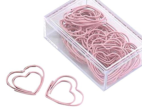 30 Pieces Cute Paper Clips Creative Paper Clip, Love Heart by Black Temptation