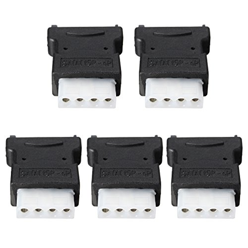 AIKE 5Pcs 15 Pin SATA Male to 4 Pin Molex Female Power Adapter For IDE Hard Drive/CD/DVD by Aike® (Image #2)