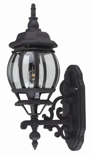 Globe Trans Sconce Light 1 - Trans Globe Lighting 4050 BK Outdoor Francisco 20.5