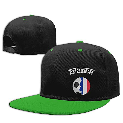 (LJQ-shop France Flag Soccer Football Fan Jersey Contrast Hip Hop Baseball Cap)