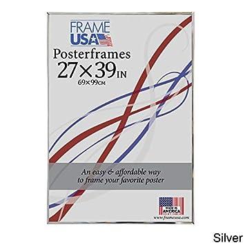 Amazoncom Frame Usa Hardboard Poster Frame Frames 27 X 39 Silver
