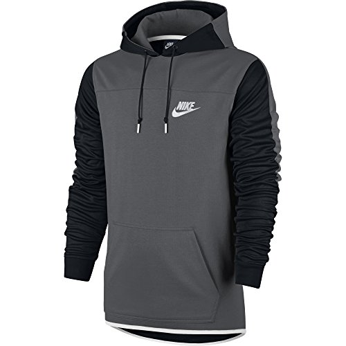 Nike Men's Sportswear Advance 15 Pullover Hoodie Dark Grey/Black/White XX-Large