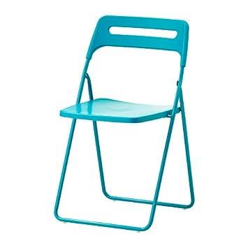 IKEA NISSE - Silla plegable, azul: Amazon.es: Hogar