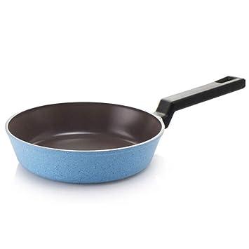 Non - Stick Sarten Plana, De Espesor De Aleacion De Sartén, Cocina De Induccion, Sin Cubrir, Azul 20 Cm (7.87in): Amazon.es: Hogar
