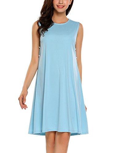 SE MIU Women's Sleeveless O-Neck Dress, Casual Vintage butterfly Casual Party - Miu Miu Butterfly